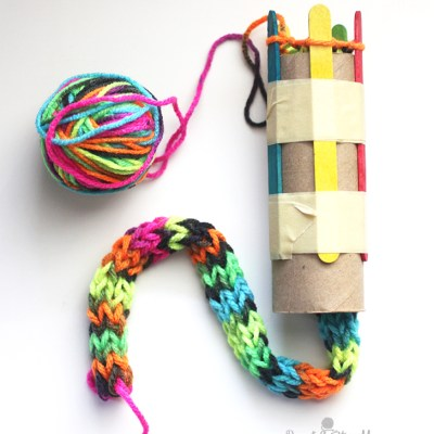 Cardboard Roll Snake Knitting