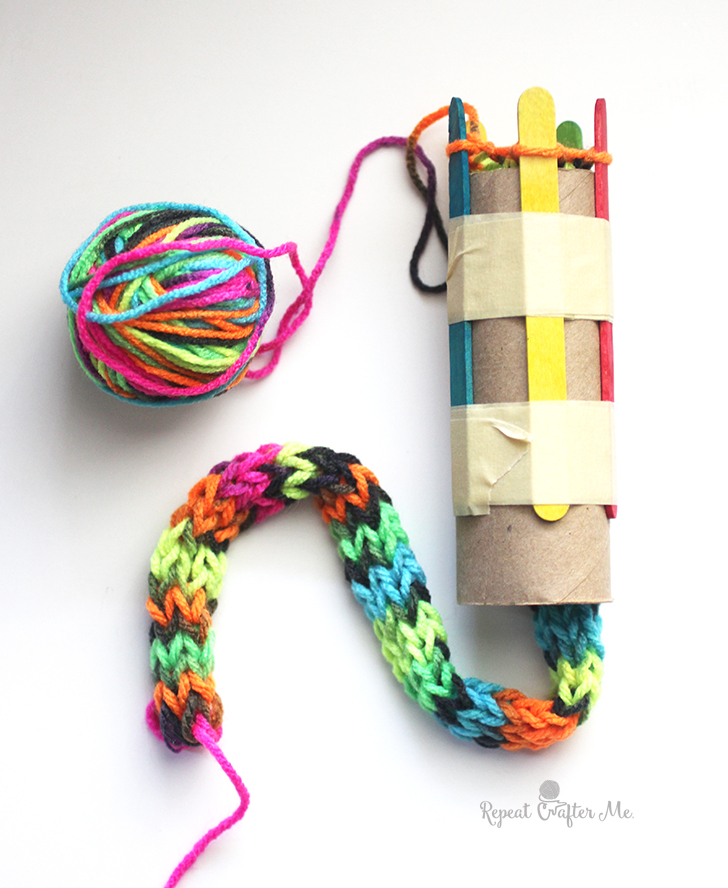 Loom Knitting For Kids : Things to do with french knitting domesblissity