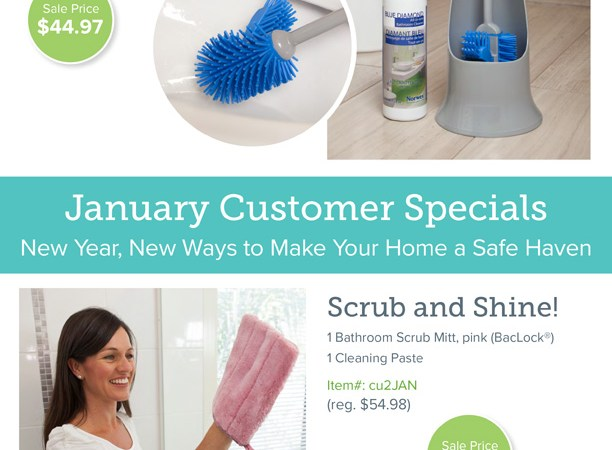 Norwex is giving away FREE MOPS to our hosts in January!
