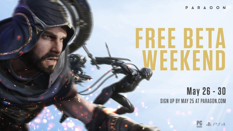 paragon game free beta banner