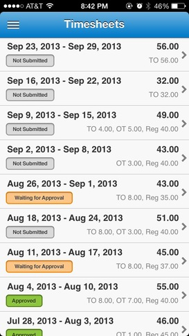 Manage your timesheet on your iPhone with Replicon Mobile \u2013 Replicon