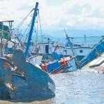 embarcaciones varadas