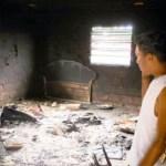 La vivienda de Alfonso Liendo, ubicada en la primera etapa del barrio Las Trinitarias, fue quemada por los familiares de Franshesca Carolina Parra Pérez.