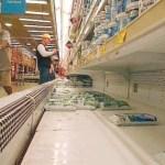 Los productos que registran mayores fallas son leche en polvo, aceite, carne, café y queso.