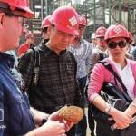 La delegación China revisó los nuevos proyectos del complejo petroquimico de Morón.
