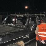 En el vehículo en el que iban los 14 miembros de la familia Cambar quedaron las marcas de los disparos.