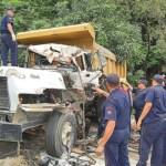 En el accidente de tránsito del lunes resultaron heridos 24 personas.
