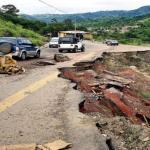 La vía que va de San Cristóbal a la frontera a través de Rubio y San Antonio fue muy afectada por las lluvias.