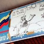 En julio pasado, los trabajadores colocaron en la sede de la Inspectoria de Trabajo un dibujo en señal de protesta.