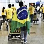 Llegada de peregrinos al aeropuerto de Barajas el pasado agosto con motivo de la visita de Benedicto XVI.
