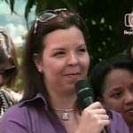 """El """"impasse"""" entre el presidente Chávez y la periodista Andreina Flores."""