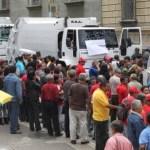 """Los camiones fueron alquilados por la Alcaldía en el marco del """"Pacto por Mérida""""."""