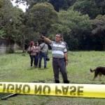 El Parque Botánico del UNET fue acordonado por agentes de seguridad al conocerse del hallazgo de los estudiantes fallecidos.