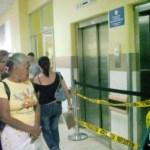 Las cintas de peligro alertaron ayer a visitantes y pacientes del Cardiológico de Maracay.