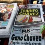Los diarios venezolanos y del mundo destacaron el triunfo de Chávez.