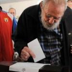 El líder cubano volvió a hacer una aparición frente a las cámaras durante la jornada electoral de este domingo.