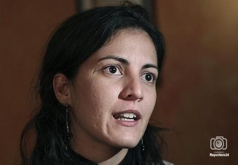 La hija del disidente cubano Oswaldo Payá,  Rosa María Payá, durante la rueda de prensa de este jueves en Madrid.
