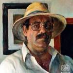 Autorretrato con sombrero de paja, de: Antonio Macías Luna.
