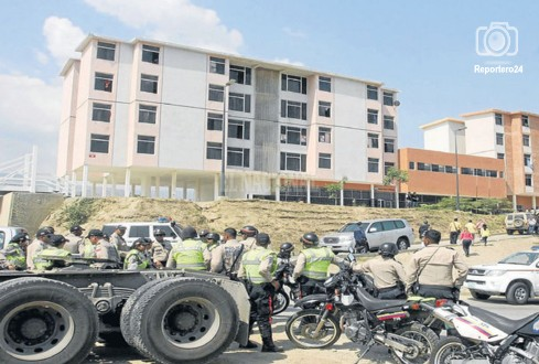 El desarrollo fue tomada por la PNB, la GN y el Cicpc después de la trifulca.