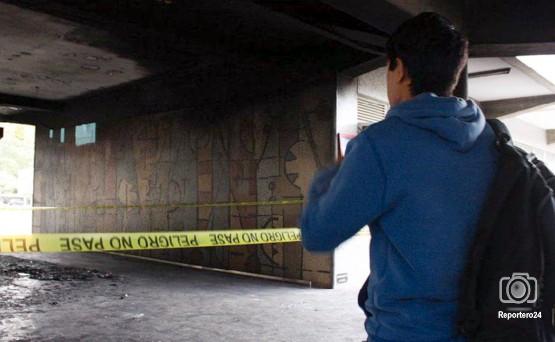 En 2009, el mural de Oswaldo Vigas también sufrió daños por la explosión de un carro.