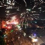 Egipto: Con fuegos artificiales celebran el golpe de Estado contra Mohamed Mursi.