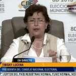 La presidenta del Consejo Nacional Electoral ofreció detalles de la participación de los comicios electorales de este domingo 8 de diciembre.