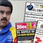 Maduro le declara la guerra a los titulares en la prensa