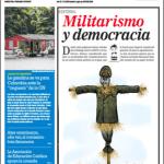 Tal Cual portada Militarismo y democracia