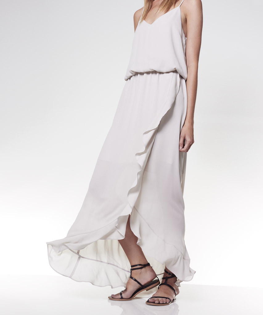 maxi dress with ruffle_lyst