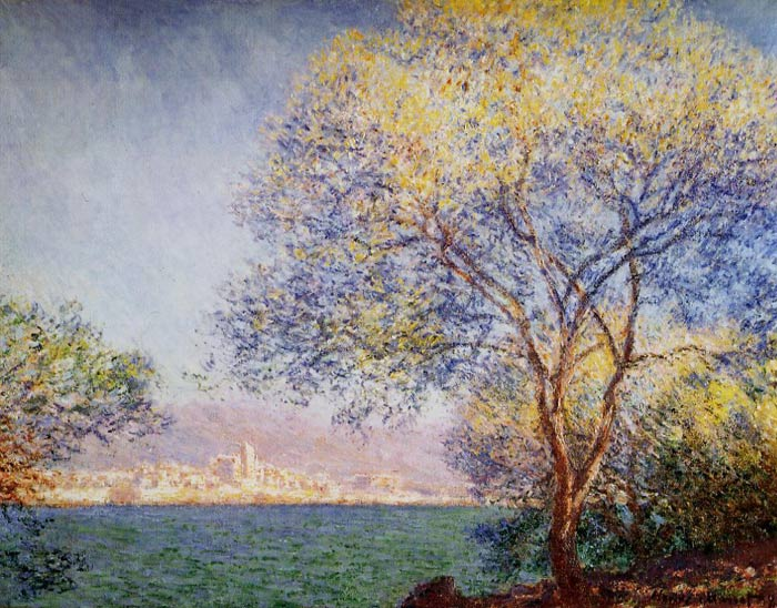 Monet Oil Painting - Antibes in the Morning