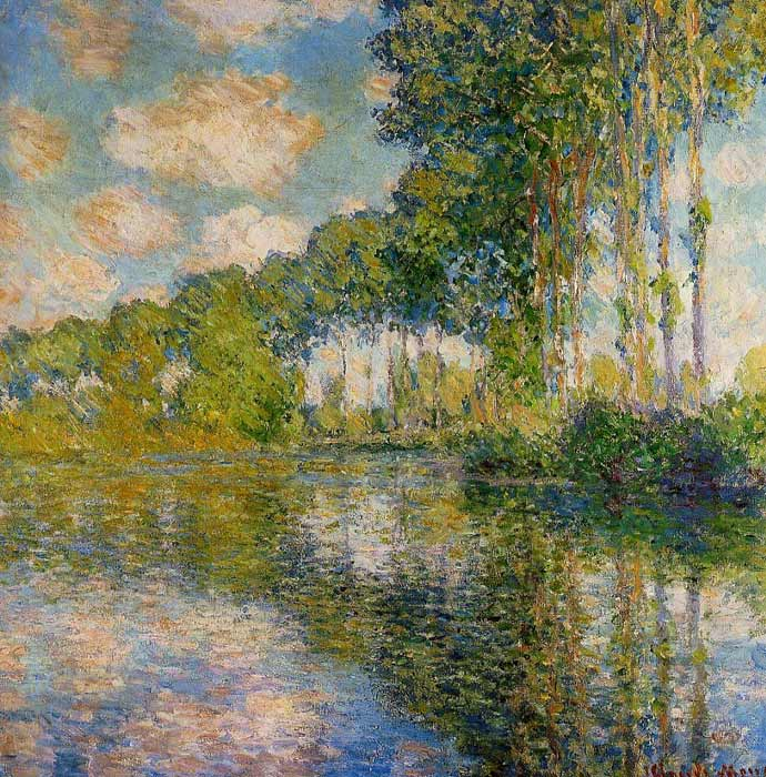 Oil Painting Reproduction of Monet- Poplars on the Banks of the