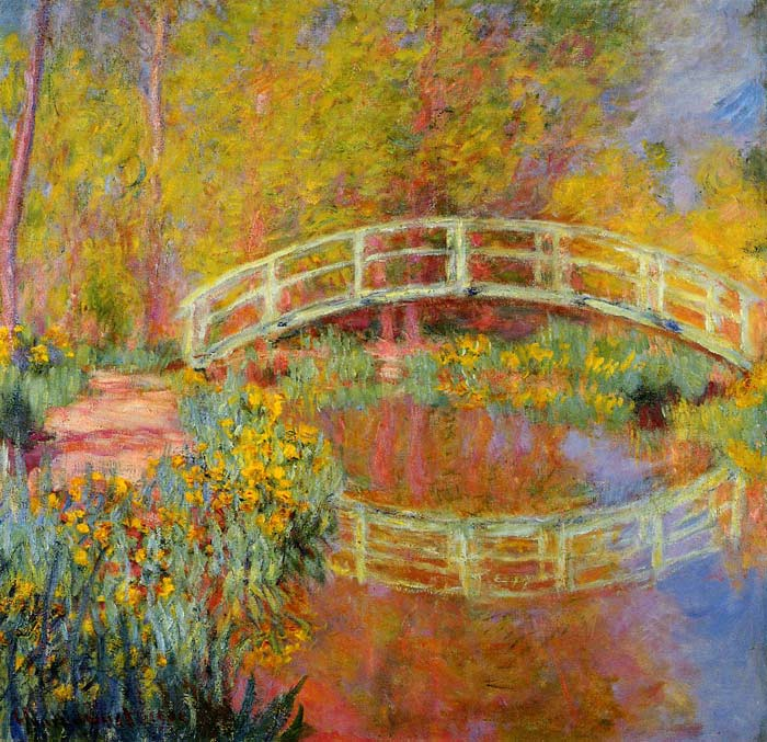 Monet Oil Painting - The Japanese Bridge at Giverny