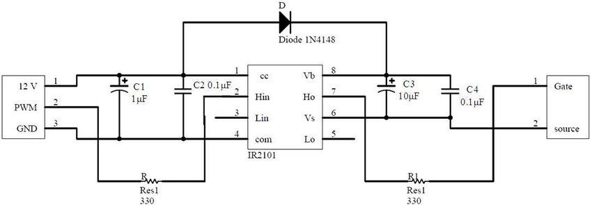 Schematic diagram of the voltage-regulator circuit Download