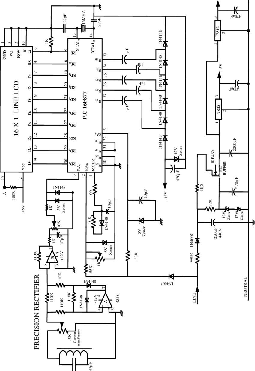 the circuit diagram of capacitance meter and the explanation