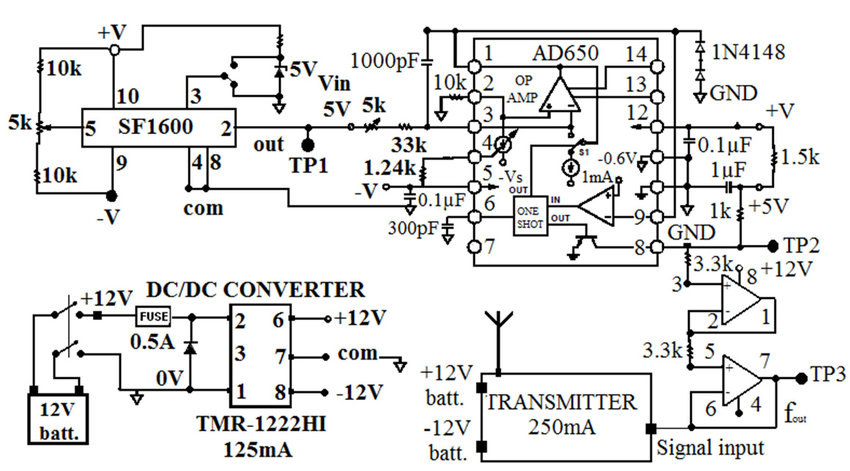 Circuit diagram of accelerometer transmitter board Download