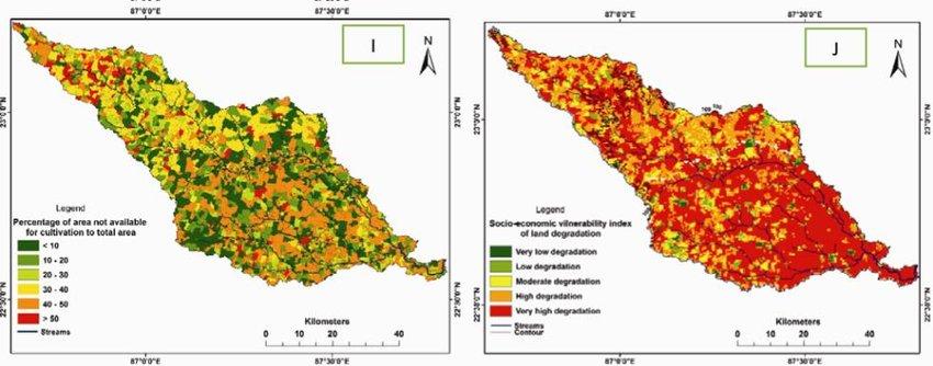 Physical factors affecting land degradation of Silabati basin-A