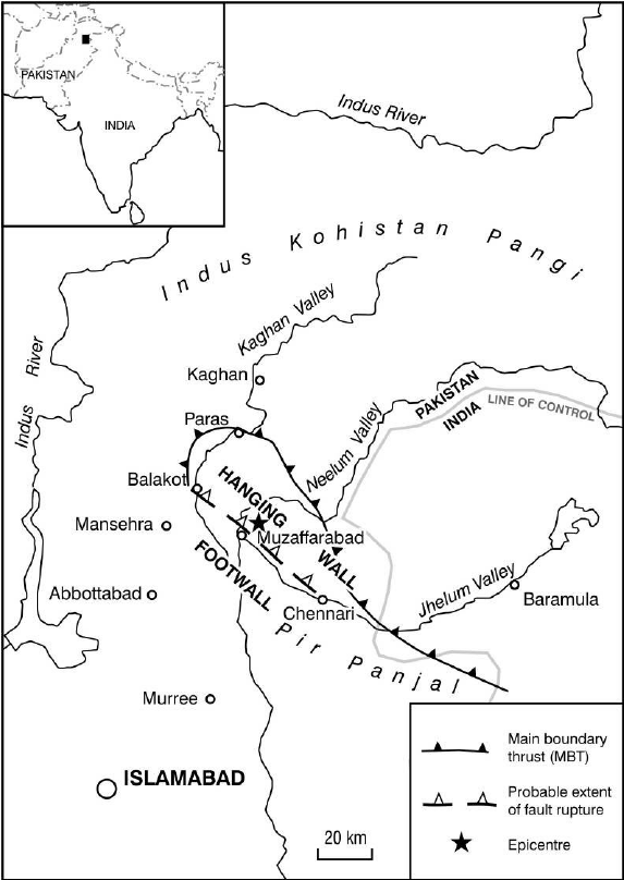 diagram of 2005 kashmir earthquake