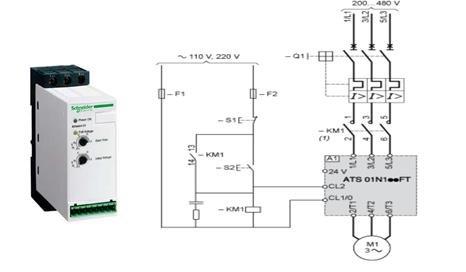 Soft starter wiring diagram ATS01N125FT 7 2) ATS22D47Q-Schneider