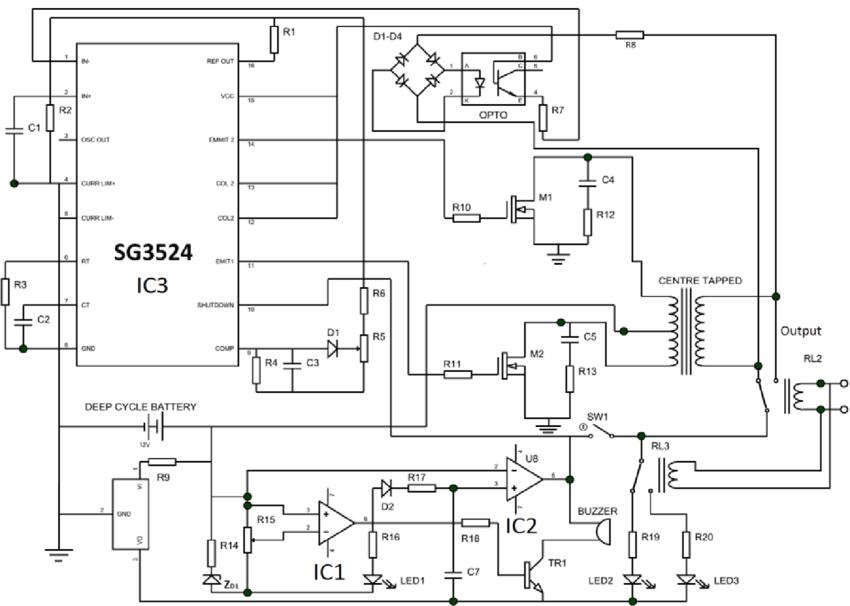 ckt diagram of inverter
