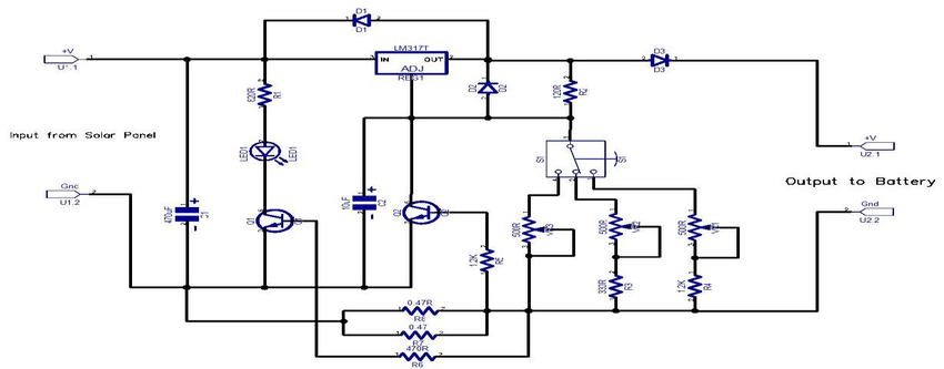 circuit diagram solar mobile charger