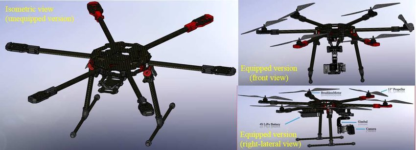 The CAD prototype of the hexacopter Download Scientific Diagram