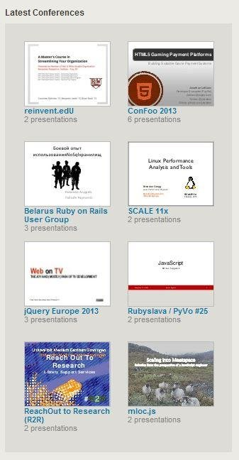 Featured conference presentations on SlideShare Download