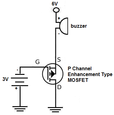 p channel mosfet switch circuit diagram
