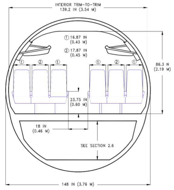 737 fuselage diameter