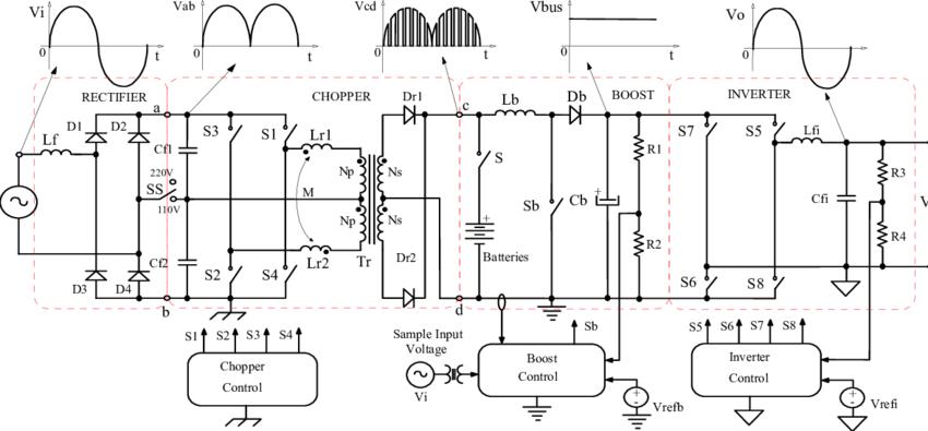 commercial ups circuit diagram