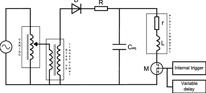 draw a circuit diagram for an electromagnet