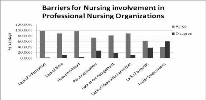Barriers for Nursing involvement in Professional Nursing