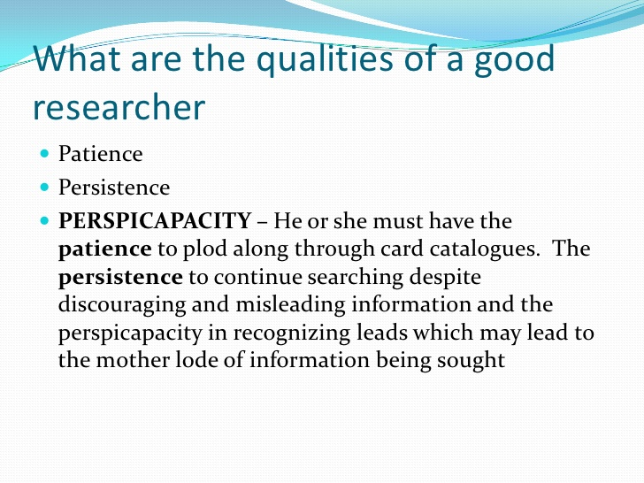 How to be a good researcher?