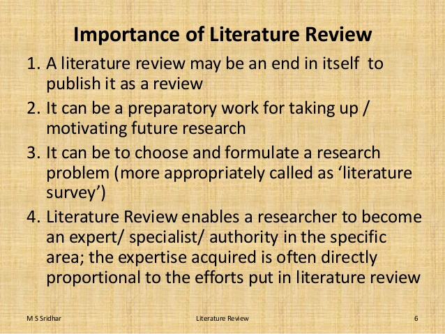 What Is The Importance Of Literature Review Page 2