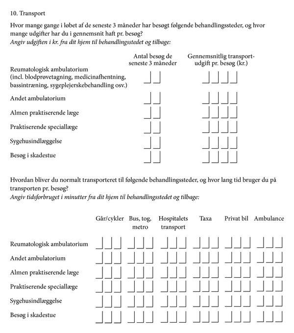 Travel Questionnaire (in Danish) Download Scientific Diagram
